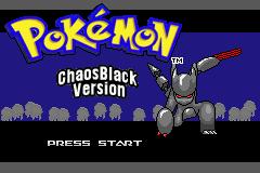 Pokemon Chaos Black Screenshot