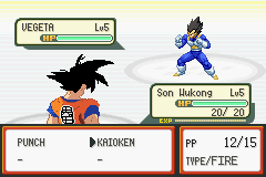 Pokemon Dragon Ball Z: Team Training Screenshot