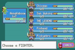 Pokemon Dragon Ball Z: Team Training Screenshot