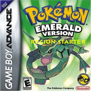 Pokemon Emerald Region Starter Box Art