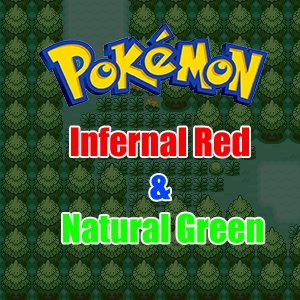 Pokemon Infernal Red & Natural Green Box Art