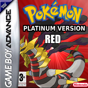 Pokemon Platinum Red Box Art