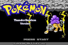 Pokemon Thunder Emblem Screenshot