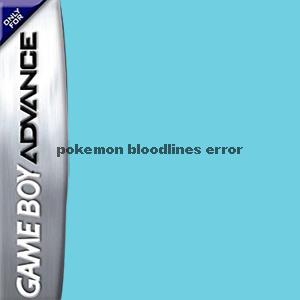 Pokemon Bloodline's error Box Art