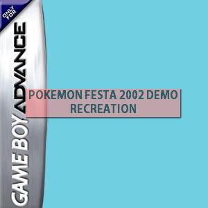 Pokemon Festa 2002 Demo Recreation Box Art
