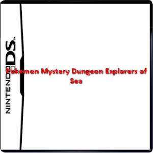 Pokemon Mystery Dungeon Explorers of Sea Box Art
