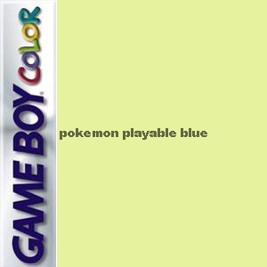 Pokemon Playable Blue Box Art