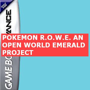 Pokemon R.O.W.E. - an Open World Emerald Project Box Art