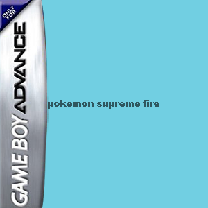 Pokemon Supreme Fire Box Art