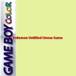 Pokemon Untitled Unova Game Box Art