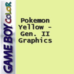 Pokemon Yellow - Gen. II Graphics Box Art