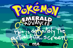 Pokemon Emerald Advanced Screenshot