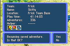 Pokemon Mystery Dungeon - Red Rescue Team Kaizo Screenshot