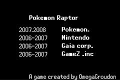 Pokemon Raptor EX Screenshot